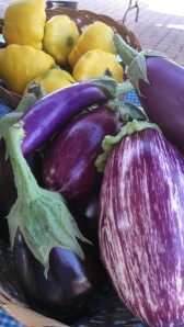 Eggplant and squash from the Country Gals.